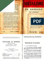 Socialisme Ou Barbarie 35 Janvier-mars 1964