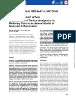 Mechanisms of Topical Analgesics