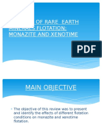 A Review of Rare Earth Minerals Flotation; Monazite and Xenotime