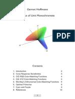 Jim Worthey´s Locus of Unit Monochromats (color-matching)