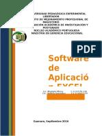 Software de Aplicación EXCEL