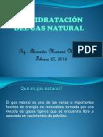 Deshidratación Del Gas Natural..