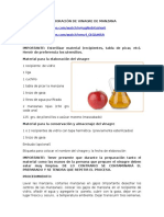 Elaboracion de Vinagre de Manzana