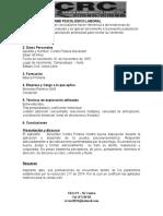 Informe Psicológico Laboral Alexander Cortes