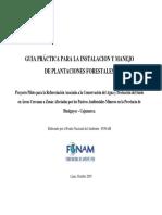 GuiaPractica Para Instalación y Manejo de Plantaciones Forestales