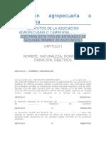 Modelo Estatutos Asociación Agropecuaria o Campesina