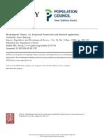 Boserup, Development Theory