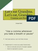Comma Lecture 042213