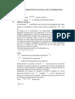 Informe Variacion de La Resistencia Electrica Con La Temperatura