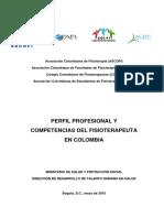 Perfil Profesional y Competencias Del Fisioterapeuta en Colombia
