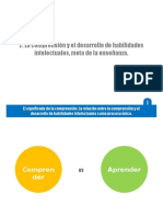 LA COMPRENSION Y EL DESARROLLO DE HABILIDADES INTELECTUALES META DE LA ENSEÑANZA