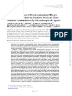 In Vitro Evaluation of Decontamination Efficacy