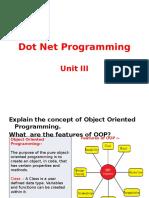 Dot Net Programming Unit III