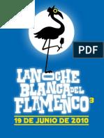 Programa Noche Blanca Del Flamenco Cordoba 2010