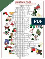 37700 Christnas Time Crossword Puzzle