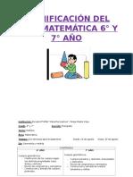 Planificacion de Math 6-7-8
