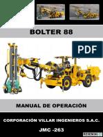 Manual de Operación Bolter 88 Jmc-263