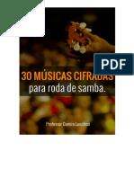 30 Músicas Cifradas Para Roda de Samba