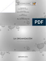 SESIÓN N°02 LA ORGANIZACIÓN