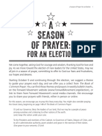 A Season of Prayer for an Election