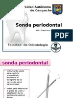 sondas periodontales