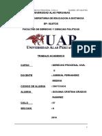 Trabajo Academico alas peruanas derecho procesal civil ii