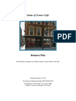 Game of Scones Cafe Business Plan Final