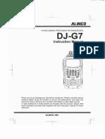 Alinco DJ-G7 User Manual