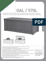 Rockwood Deck Box 570L Manual