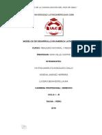 Monografia de Modelos de Desarrollo en América Latina y el Perú