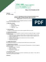 Modelos de Informes de Mmto y Reparación de Equipos de Aire Acondicionado