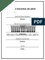 Reporte MUSEO NACIONAL DE ARTE (MÉXICO)