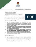 Carta Juntos Podemos