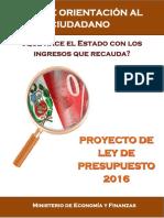 Guia Orientacion Proyecto Ley de Ppto 2016