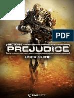 Section 8 Prejudice User Guide
