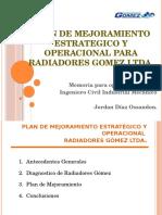Plan de Mejoramiento Estrategico y Operacional Para Radiadores v 1,1
