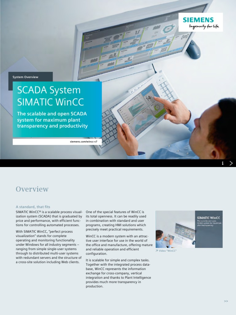 SCADA System SIMATIC WINCC pdf | Scada | Visual Basic For