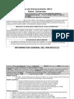 PLAN DE TAEKWONDO MACROSICLO DE NETRENAMIENTO UNEY