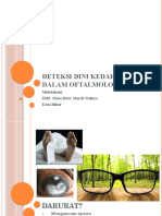 Deteksi Dini Kedaruratan Dalam Oftalmologi