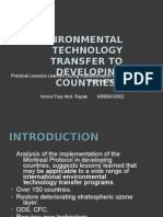 Environmental Technology Transfer to Developing Countries