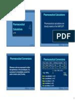 Pharm Calculations