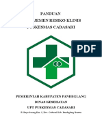 9.1.1.8 - Panduan - Manajemen Resiko Klinis