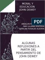 Moral y Educacion  de John Dewey