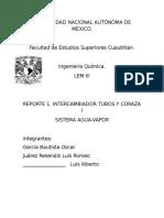 REPORTE. CORAZA I