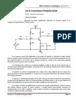 Transistores Pequeña Señal, TP