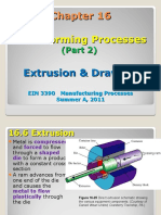 EIN 3390 Chap 16 Bulk Forming Processes Part 2- Extrusion - Drawing Summer a 2011