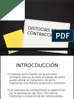 Distocias de La Contraccic3b3n
