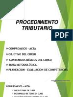1-2016-02 INDUCCION- Presentacion Procedmiento Tributario