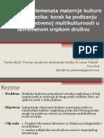 Integracija Elemenata Maternje Kulture... Novi Sad, Mart 2013