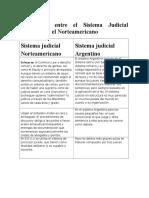 Diferencias Entre El Sistema Judicial Argentino y El Norteamericano